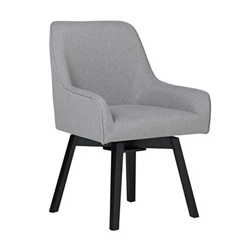 Studio Designs Spire Swivel Task Chair - Silla de Escritorio, Microfibra, Gris, 25.5' W x 24' D x 35.5' H