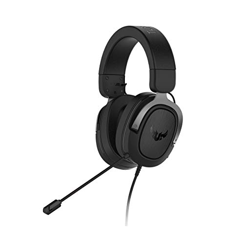 ASUS TUF Gaming H3 Gaming Headset for PC, PS4, Xbox One and Nintendo Switch, Featuring 7.1 Surround Sound, deep bass, Lightweight Design, Fast-Cooling Ear Cushions - Silver