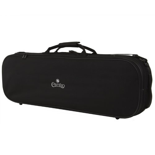 Cecilio VNC-60C_4/4 Deluxe Oblong Case with Hygrometer for Violin,...