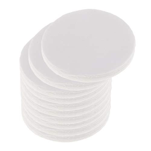 IPOTCH 100 Stücke Runde Keramikfaser Isolierung Decke Mikrowellenofen Regal Papier