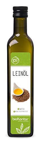 Leinöl BIO 500ml I nativ und kaltgepresst I enthält Omega-3-Fettsäuren I mühlenfrisch vom Hersteller bioKontor