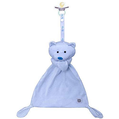 Blanket Urso Listrados, Zip, azul bebê