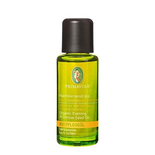 PRIMAVERA Pflegeöl Nachtkerzenöl bio 30 ml - Naturkosmetik, Pflanzenöl, Hautöl - feuchtigkeitsspendend, beruhigend bei gereizter Haut - vegan