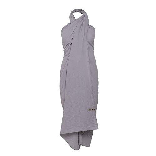 Knit Factory - Liv Pareo/XL Schal - Tuch Schal für Damen - Multifunktionales Musselintuch - Strandtuch - 100% Baumwolle - Grau