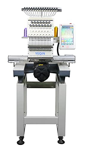 YQ-1501 Automatic Single 15 Needle Computer Embroidery Machine Flat Embroidered Hat Embroidery Clothing Embroidery Customize Embroidery Machine
