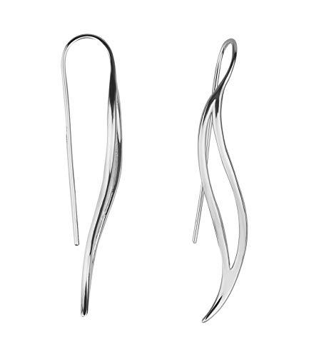 SOFIA MILANI - Pendientes de mujer de plata 925 - Pendientes largos en forma de arco.