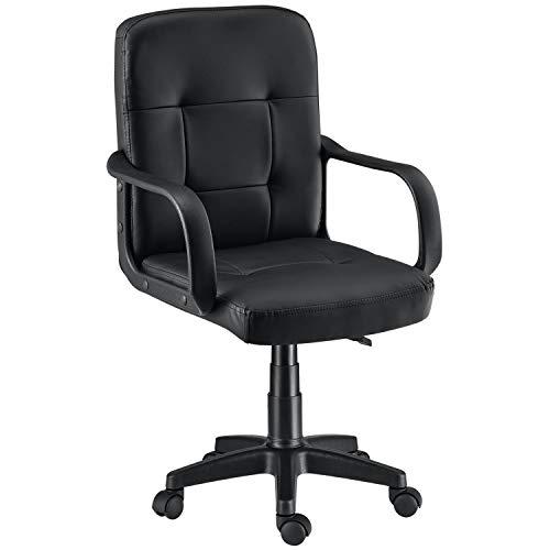 ArtLife Bürostuhl Pensacola ergonomisch mit Armlehnen & Rollen – Schreibtischstuhl höhenverstellbar bis 120 kg belastbar – Office Drehstuhl Schwarz
