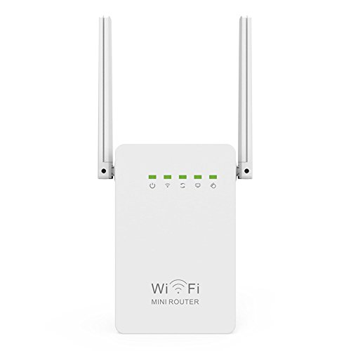 MaiTian WiFi range Extender, 300mbps Mini Router WiFi Repeater Network Range Extender Booster Wi-Fi Single Increase Dual externe antennes