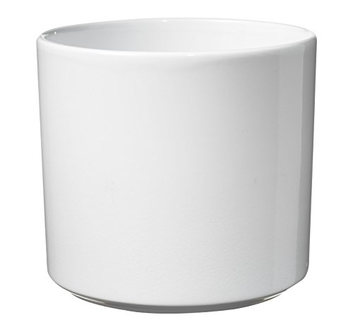 soendgen cerámica Flores Maceta, Las Vegas, Arcilla, weiß, 16 x 16 x 15 cm