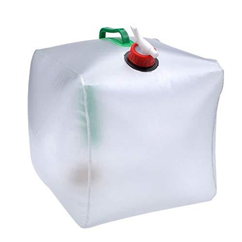 MiOYOOW Contenedor de agua plegable, 20 l de camping, cubo de agua al aire libre bolsa de agua cubo de viaje