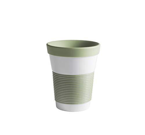 KAHLA 23F234A22285C MG Coffee To Go Becher 0,35 L mit Deckel, Porzellan, Magie Grip Fresh Herbs, 13 cm