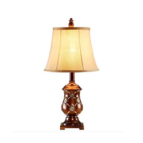 Lámpara de mesa de noche de dormitorio Lámparas de mesa para la lámpara de mesa retro de la cama de dormitorio, diseño creativo de la lámpara de antigüedades hecha a mano, protección del ojo de la luz