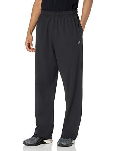 Champion Men's Authentic Open Bottom Jersey Pant, X-Large - Black