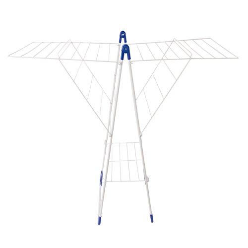 MSV 130050 Etendoir Grand Tétras 20m de Polyester/PP en Blanc/Bleu, Polypropylène, 155x94x61 cm