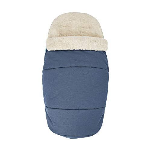 Maxi-Cosi kuschelig weicher 2-in-1 Fußsack, geeignet für alle Kinderwagen, auch als Sitzpolster verwendbar, blau