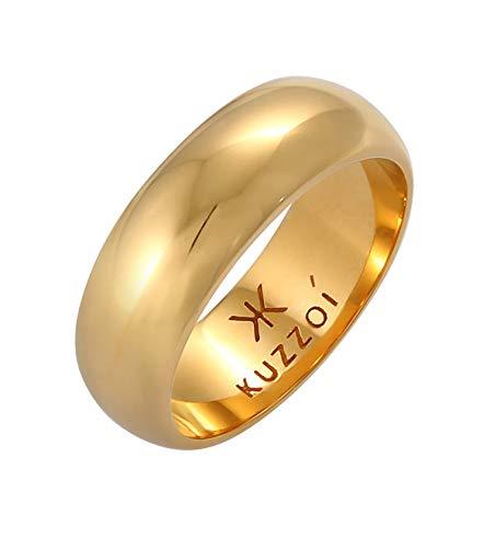 Kuzzoi Hombre plata de ley (925) plateado bañado en oro