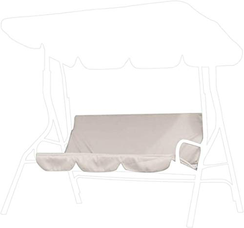 AsiaCreate Sostituzione della Fodera per Cuscino da Altalena per Sedia a Dondolo a 3 posti, Fodere per Sedia a Dondolo Impermeabili da Esterno, 150x150x10 cm (60x20x4), Beige