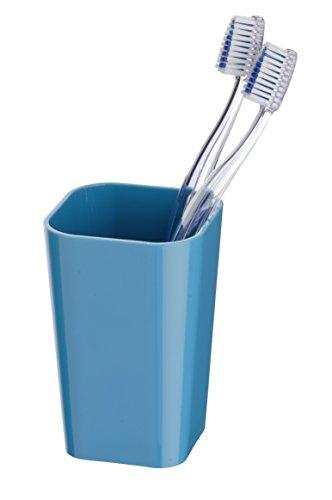 Wenko Candy Vaso para Cepillos de Dientes, Poliestireno, Petróleo, 7.3x7.3x11 cm