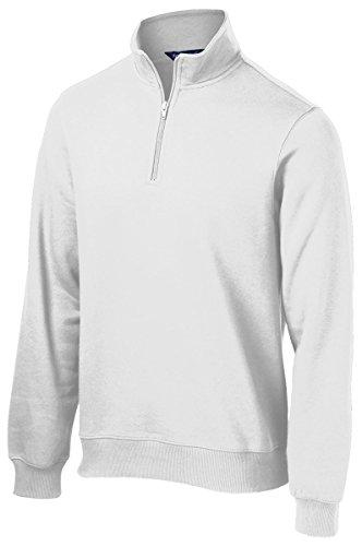 SPORT-TEK Men's 1/4 Zip Sweatshirt XL White