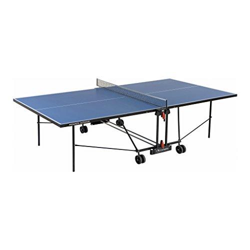 Garlando Mesa Ping Pong Progress Outdoor con Ruote per Esterno Azul