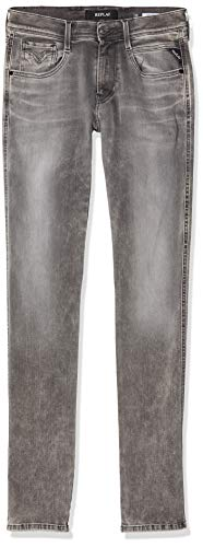 Replay Anbass, Vaqueros Slim para Hombre, Gris (Medium Grey 9), W32/L30