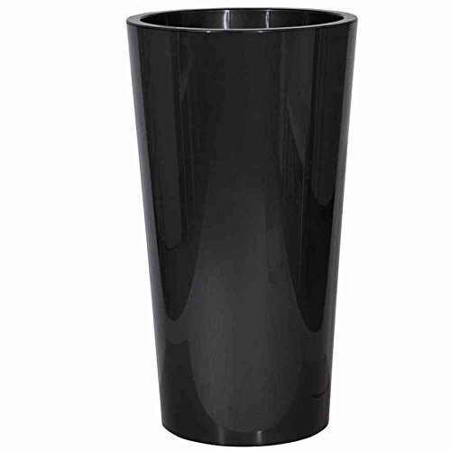 EURO3PLAST Pot Rond Plastique Tuit Anthracite Ø40 x h.75 cm