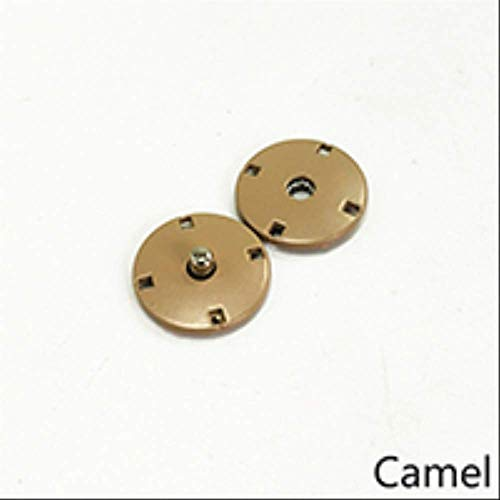 10sets Metalen Snap Knop Onzichtbare Gesp Gesp DIY Jas Down Jas Windbreaker Decoratieve Naaien Accessoire 21mm Camel