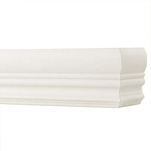 """TailorView, Faux Wood Crown Valance for Horizontal (Venetian) Window Blinds, Pearl (Light Ivory)/Off-White, Inside or Outside Mount, 60 1/8"""" L - 72"""" L"""