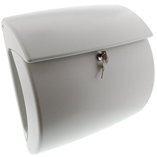 Burg-Wächter Kunststoff-Briefkasten mit integriertem Zeitungsfach, A4 Einwurf-Format, EU Norm EN 13724, Kiel 886 W, Weiß