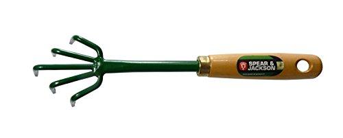 Spear & Jackson 50590 Griffe à Fleurs 5 dents manche Bois