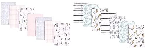 Hudson Large special price !! Baby Girl Soldering Cotton Flannel Fores Winter Burp 14-Pack Cloth