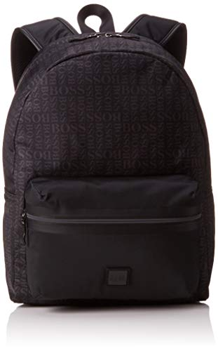 BOSS Herren Lighter_Backpack Rucksack, Schwarz (Black), 12x40x30 cm