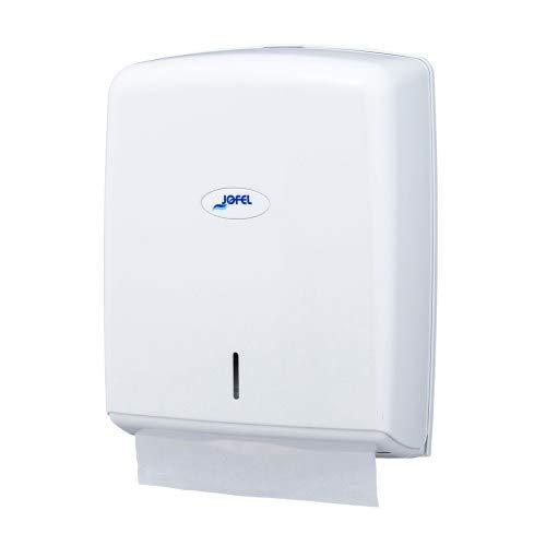 Dispensador Toallas ABS Blanco dispensador 600 Toallas + 4000 Toallas Papel ecológico