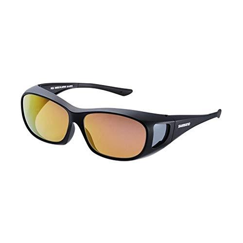 シマノ(SHIMANO) 釣り用 メガネの上からかける偏光サングラス オーバーグラス ブラック/ブラウンピンクゴールドミラー UJ-201S