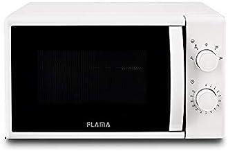 Flama Microondas Blanco 1824FL, 700W, Capacidad de 20L, 5 Programas Automáticos, Sencillo y con un Tamaño Compacto