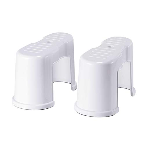 Porta Traveler Foldable Toilet Stool for Travel Convenient and Compact-Great for Travel Fits All Toilets,Folds for Easy Storage,Use in Any Bathroom,Potty Step White 30 * 15 * 19cml 2pcs