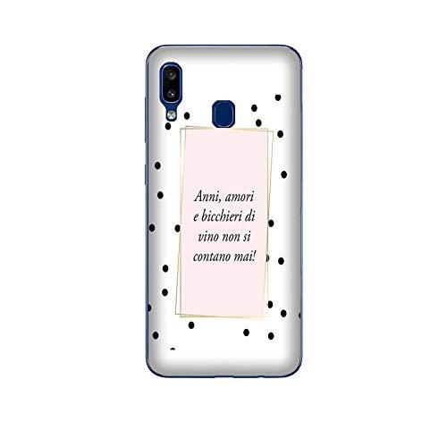 Funda Galaxy A30 Carcasa Samsung Galaxy A30 Frases divertidas Copas de vino nunca se cuentan / Cubierta en TPU Silicona / Cover Antideslizante Antideslizante Antiarañazos Resistente a golpes Protecto