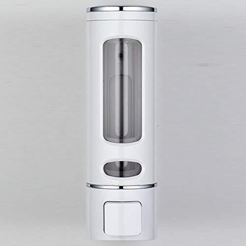 Zeepdispenser van 400 ml Badkameraccessoires Wandmontage ABS Shampoo Douchepomp Ziekenhuis School Handdesinfecterend flesje, wit Single