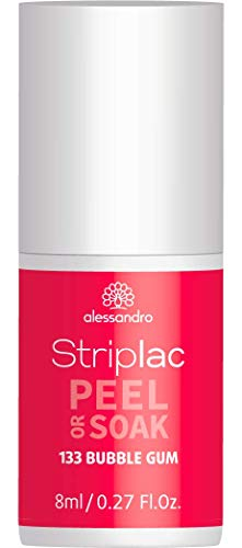 alessandro Striplac Peel or Soak Bubble Gum – LED-Nagellack in dunklem Pink – Für perfekte Nägel in 15 Minuten – 1 x 8ml