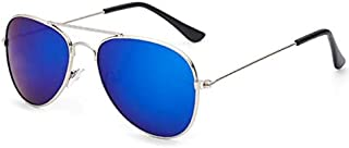Classic Kids Aviator Sunglasses Bulk Reflective Metal Frame Children Eyeglass silver frame blue frame