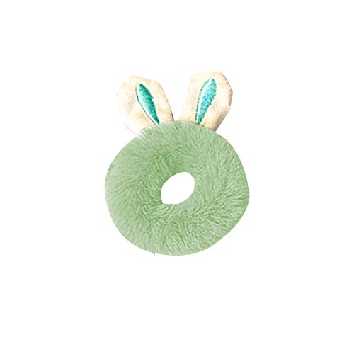 Janly Clearance Sale Women Hair clip , Girl's Heart Cute Hair Ring Plush Rabbit Ears Head Rope High Stretch Ponytail , Jewelry Sets , Valentine's Day (C)