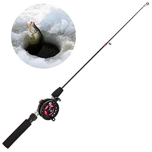 ABNIUK Rodas de Pesca de Invierno Cañas de Pesca con Hielo Carretes de Pesca for Elegir Varilla Combo Pluma Pole Señuelos Tackle Spinning Funding Hard Rod (Color : B1 62cm)