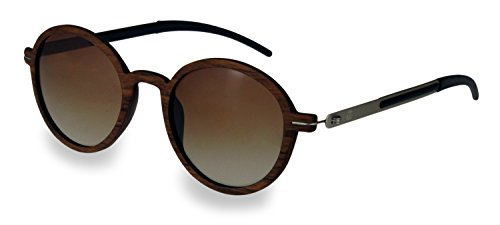 retrostiel Holz Sonnenbrille Lennon Nut (Brown)