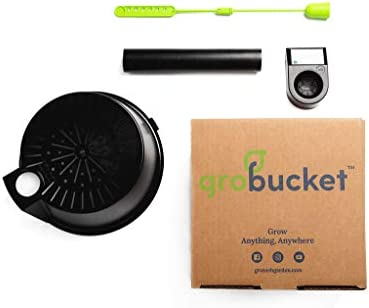 GroBucket Garden Kit 10PK Self Watering sub irrigated planter insert Turn any bucket into a product image