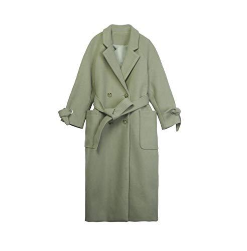 Temperament, riem, stropdas, pak, kraag, wollen jas, dames, herfst en winter, mantel