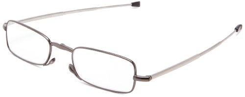 Foster Grant Men's Gideon Rectangular Reading Glasses,Black,48 mm/+ 2