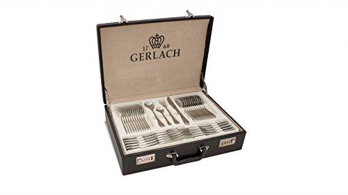 Gerlach Besteck-Set Glänzend Celestia, Edelstahl, Silber, 52 x 42 x 10 cm, 68-Einheiten