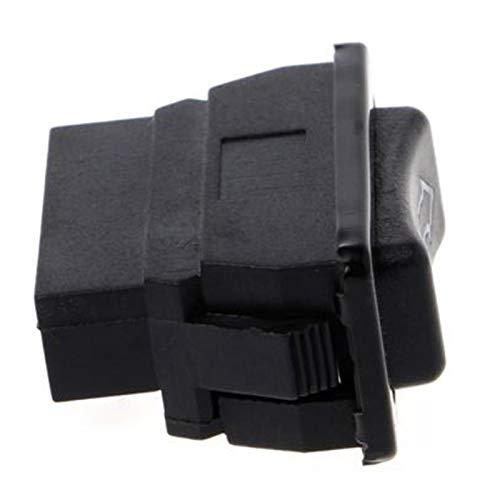 Botón de Interruptor de Enchufe de Enchufe de Enchufe de luz LED de energía eléctrica para Todos los Autos con Verde Accesorios de Coche (Color : Black)