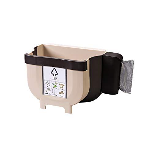 Cubo de basura plegable, se puede colgar basura de cocina, c
