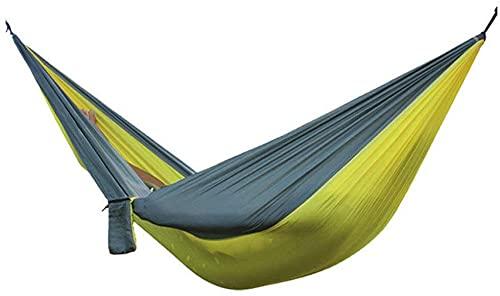MVNZXL Hamaca portátil multifunción de Tela de Nailon para Acampar, Columpio Doble para Dormir al Aire Libre, con mosquetón y Cuerdas